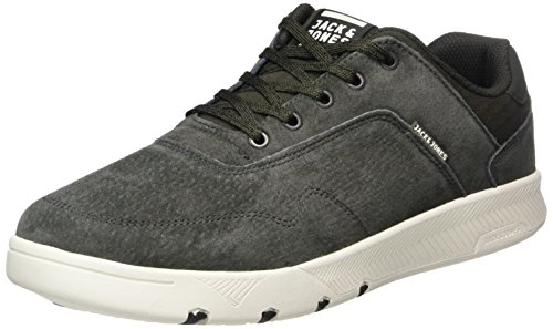 JACK & JONES Herren JFWHOUGHTON Nubuck Beluga Sneaker, Grau, 45 EU
