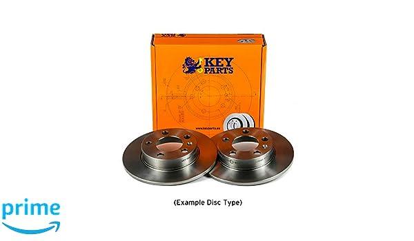Rear Key Parts KBD4465 Brake Disc Pair