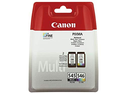 Cartucce per stampante Canon Pixma TS205, TS305, TS3150, TS3151 (nero/colore), 100 fogli di carta per fotocopiatrice A4
