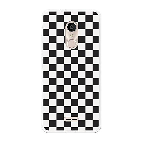 Funda gel para Alcatel 3C, Carcasa TPU Flexible fabricada con la mejor Silicona, protege y se adapta a la perfección a tu Smartphone y con nuestro exclusivo diseño 3B® - Tablero de ajedrez.