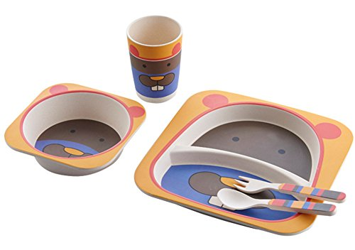 Berry-Prsident-TM-respectueux-de-lenvironnement-en-bambou-de-table-Service-de-table-Ensemble-de-repas-Assiettes-plats-alimentaire-Set-pour-nourrir-les-tout-petits-enfants-garons-filles-5-pices-Taupe