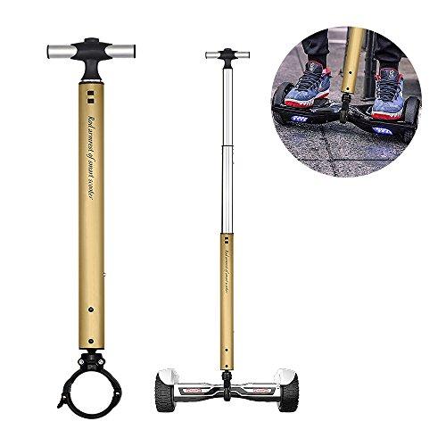 Locisne Stretchable Aluminiumlegierungs-Ausgleich-Roller-Handgriff-Stab, intelligentes Schwebeflug-Roller-Stützleder, Anfänger-elektrischer Hoverboard Halter Scooter Lenker Für 22cm Roller (golden)