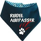 KLEINER FRATZ Gestreiftes Hunde Wende- Halstuch (Fb: Petrol-türkis) (Gr.3 - HU 36-42 cm) Rudelaufpasser