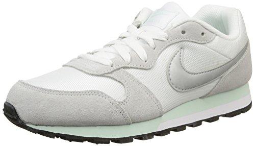 Nike - Md Runner 2, Scarpe da Donna Multicolore (White/Fiberglass/Pure Platinum/Metallic Silver)