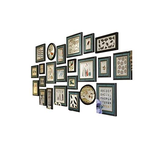 C&L Cadre de photo de combinaison, bois massif 23 Boîte rétro photo cadre de combinaison de mur Sofa de salon Fond wall mur 238 * 110cm ( taille : 238*110CM )