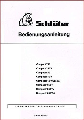 Schlüter   Bedienungsanleitung   Compact-Serie
