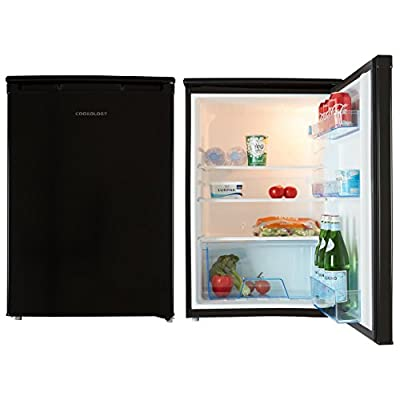 Cookology Black 55cm Freestanding Side-by-Side Undercounter Fridge Freezer Pack