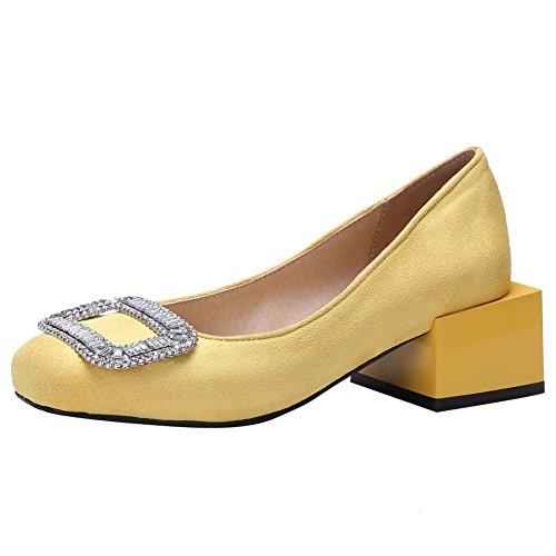 Mee Shoes Damen speziell heel mit Strass Pumps Gelb