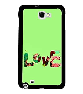 FUSON Love Fabric Text Designer Back Case Cover for Samsung Galaxy Note N7000 :: Samsung Galaxy Note I9220 :: Samsung Galaxy Note 1 :: Samsung Galaxy Note Gt-N7000