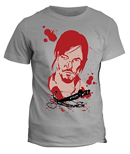 Tshirt Daryl Dixon Dead Zombie - in cotone by Fashwork Grigio