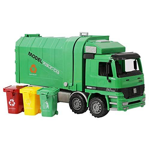 Camion à ordures avec poubelles à chargement latéral pour enfants