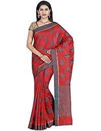 The Chennai Silks - Tussar Silk Saree - Mars Red - (CCMYFA586)