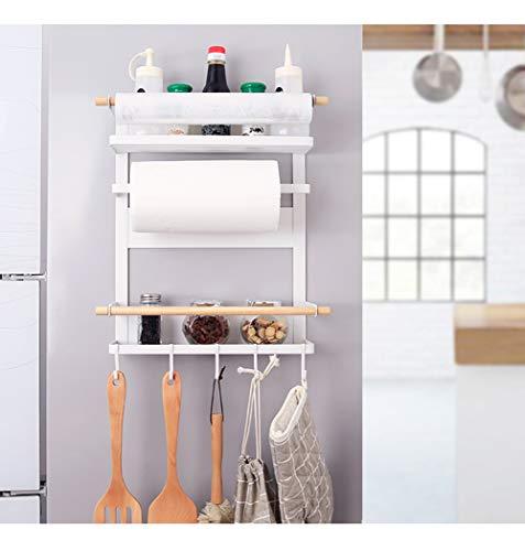 Organisation Lagerregal Magnetische Kühlschrank Side Hanger Regal 3 Tiers Sidewall Halter Über Tür Wand Lagerbehälter Für Küche Gewürzregal Jar Flaschenhalter