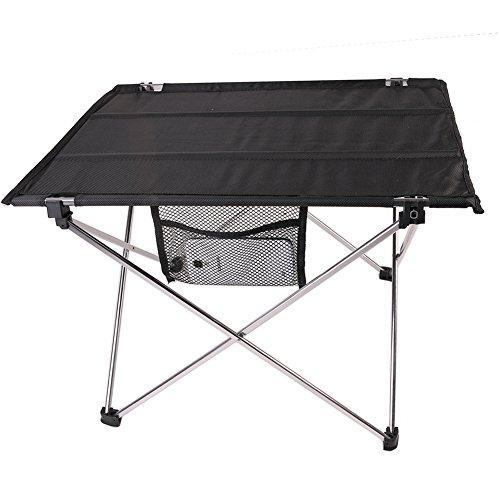LYFF extérieur Pique-Nique Table Pliante Portable en Aluminium Plus Tissu Oxford Desk Peut Mettre téléphone Portable