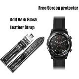 SZPZC Reloj Inteligente De Stratos Pace 2 para Hombres con GPSReloj PPG Monitor De Ritmo Cardíaco 5Atm Impermeable,Black Leather Strap