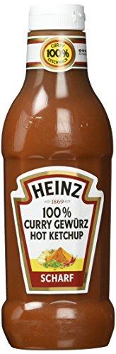 Heinz 76006385 Curry Gewürz Ketchup Scharf 76006385, Squeezeflasche, 8er Pack (8 x 590 ml)