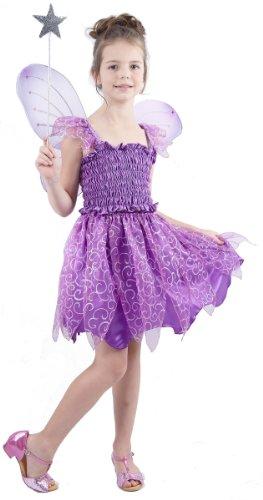 Generique - Feenkostüm Violett für Mädchen 122/134 (7-9 Jahre)