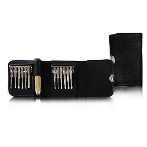 Hama Feinmechaniker Mini Schraubendreher-Set für Uhr, Brille, Modellbau, Handy, PC, Laptop (Magnetisierbar, Torque, Schlitz, Kreuzschlitz) Werkzeug-Set 13-teilig - 2