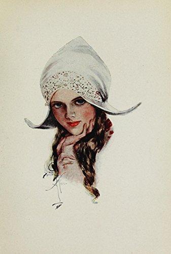 The Poster Corp Harrison Fisher – American Girls in Miniature 1912 Miss Knickerbocker Kunstdruck (45,72 x 60,96 cm) -