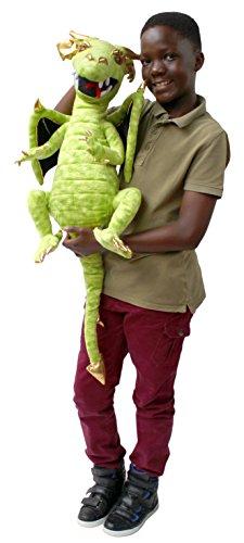Handpuppe Drache (Handpuppe grüner Drache 62 cm)