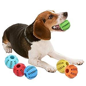 T0.0 Dog Toy Ball-Jouet Balle pour Chien Non Toxique Balle Durable à Mâcher pour l'entraînement/Nettoyage de Dent/Mastication Idéal pour Les Petits/Moyens/Grands Chiens
