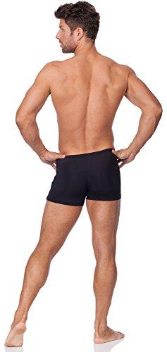 Hommes Shorts de Bain Modèle Bob Noir/Gris/Rouge
