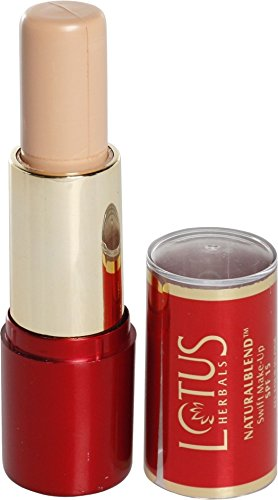 Lotus Herbals NaturalBlend Swift Make-up Stick SPF 15, Honey Beige, 10g