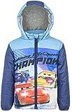Disney Cars Lightning McQueen Kinder Winter Gefütterte Jacke (8 Jahre, Blau)
