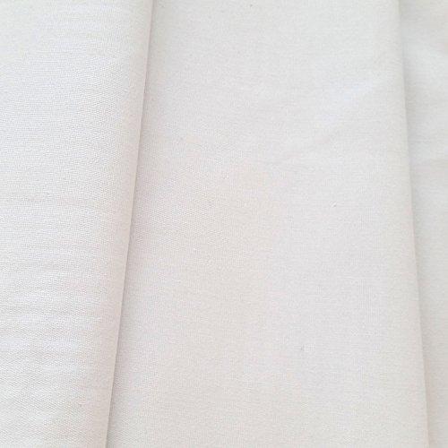 Futterstoff für Vorhänge, Verdunkelungsstoff, Thermofutter, 3 Schichten, Meterware, Breite 137 cm, Weiß