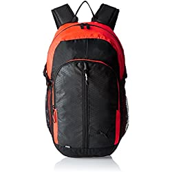 Puma 24.5 Ltrs Black and Red Blast Casual Backpack (7375811)