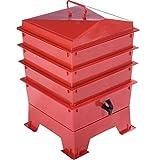 Tiger Rainbow Standard-Kompostbehälter in Teracotta mit 3 x stapelbaren Kästen