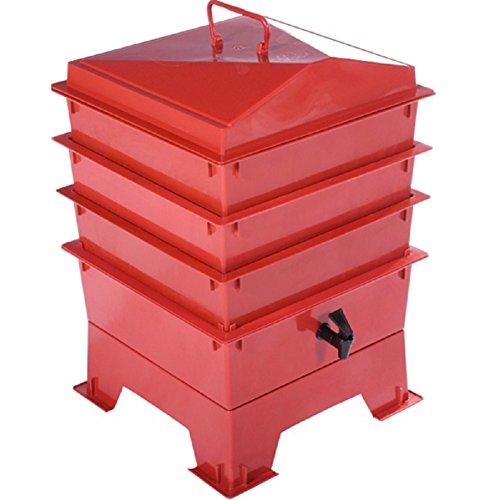Tiger Rainbow Standard-Kompostbehälter in Teracotta mit 3 x stapelbaren Kästen -