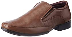 BATA Mens Hughes Tan Formal Shoes - 8 UK/India (42 EU)(8513100)