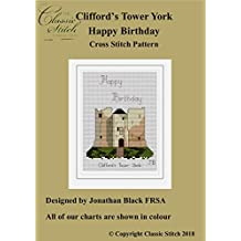 Clifford's Tower York Happy Birthday Cross Stitch Pattern