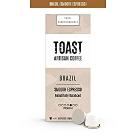 Toast Artisan Coffee – Taster Box – Biodegradable Nespresso Compatible Coffee Pods (Pack of 50)