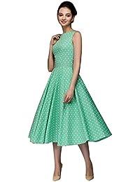 2aacc0647 Vestidos de Fiesta Mujer Largos Elegantes Mosstars Dot Mangas Mujer Hebburn  Vintage Zip Vestido Floral Largo