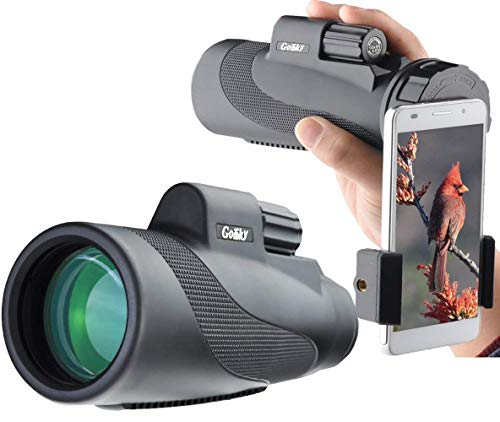 Gosky Telescopio Monocular 12x 50 impermeable de alta potencia Prism Monóculo - bak4 prisma fmc para la observación de aves caza camping viajar fauna secenery