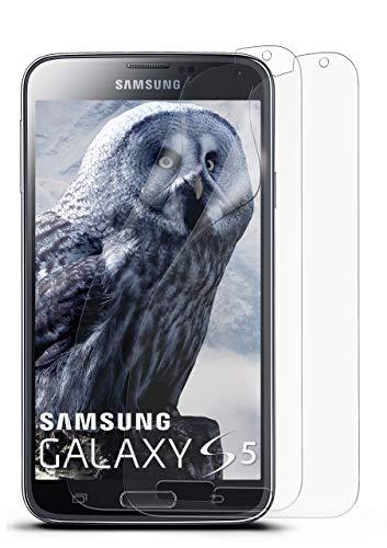 2X Samsung Galaxy S5 | Schutzfolie Matt Bildschirm Schutz [Anti-Reflex] Screen Protector Fingerprint Handy-Folie Matte Bildschirmschutz-Folie für Samsung Galaxy S5 / S5 Neo Bildschirmfolie