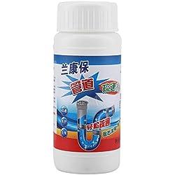 Desodorante en polvo granular para fregadero y desagüe, 5 unidades