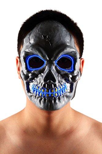 Brinny EL Wire Drahtmaske Leuchten Maske LED Leucht Leuchtmaske Make Up Partymaske mit Batterie Box Kostüme Mask Weihnachten Tanzen Party Nacht Pub Bar Klub 09