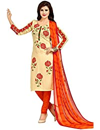 A K Designer Women's Chiffon Dress Material (Mehak1013_Free Size_Blue)