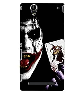 ColourCraft Scary Joker Design Back Case Cover for SONY XPERIA T2 ULTRA
