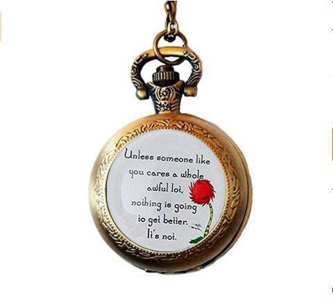 Lorax Truffula Baum 'sofern nicht' Zitat Taschenuhr Halskette, Silber oder Bronze Taschenuhr Halskette, Silber oder Bronze Taschenuhr Halskette  Einzigartige Taschenuhr Halskette Individuelle Geschenk  Everyday Geschenk Taschenuhr Halskette