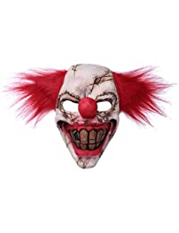dPois Payaso Aterrador Diablo Zombi Máscara Látex Horror Cara Máscara de Broma Disfraces Cosplay Lujo Disfraces