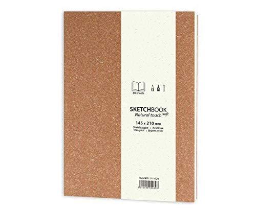 Natural Touch Soft-Skizzenbuch (100g / M2, 80 Blatt) A5-Terrakotta-Decken -, Pastell-Kohle-Bleistift-Zeichnung - Trockene Techniken, Skizzenbücher, Kunst