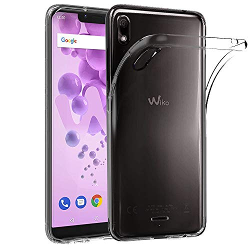 Ferilinso Coque pour Wiko View 2 Go, Ultra Mince résistant aux Rayures Crystal Clear Silicone TPU Rubber Soft Skin Housse de Protection en Silicone pour Wiko View 2 Go (Transparent)