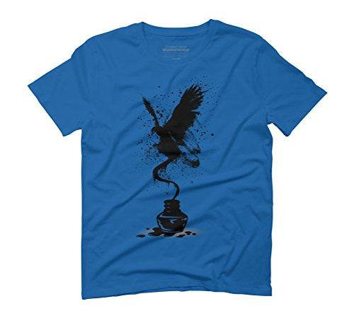 Ink Eagle Men's Graphic T-Shirt - Design By Humans Royal Blue