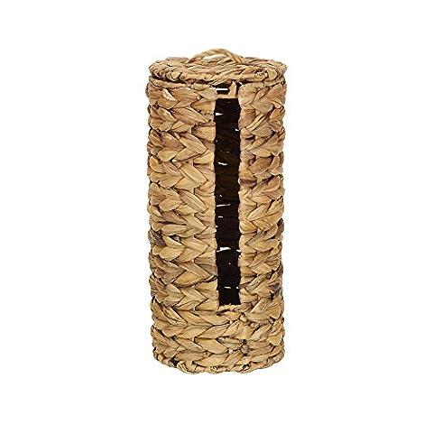 Household Essentials Wicker Toilet Tissue Paper Holder, Free Standing,