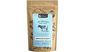 Beef Bone Broth Powder - 48 Hour Slow Cooked For Max Nutrients & 100% Grass-Fed Beef - Helps Reduce Inflammation, Packed With Collagen, Supports Immune Health - Bone Broth