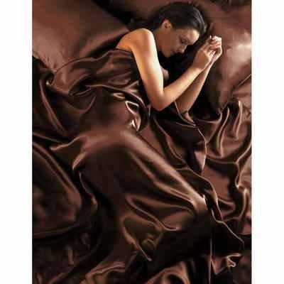 Gaveno Cavailia 6 tlg. Schokolade-Satin Luxus Bettwäsche 200x200 (Spannbetttuch+4x Kissenbezüge+Bettbezug) NEU OVP - Satin Schokolade Kissenbezug